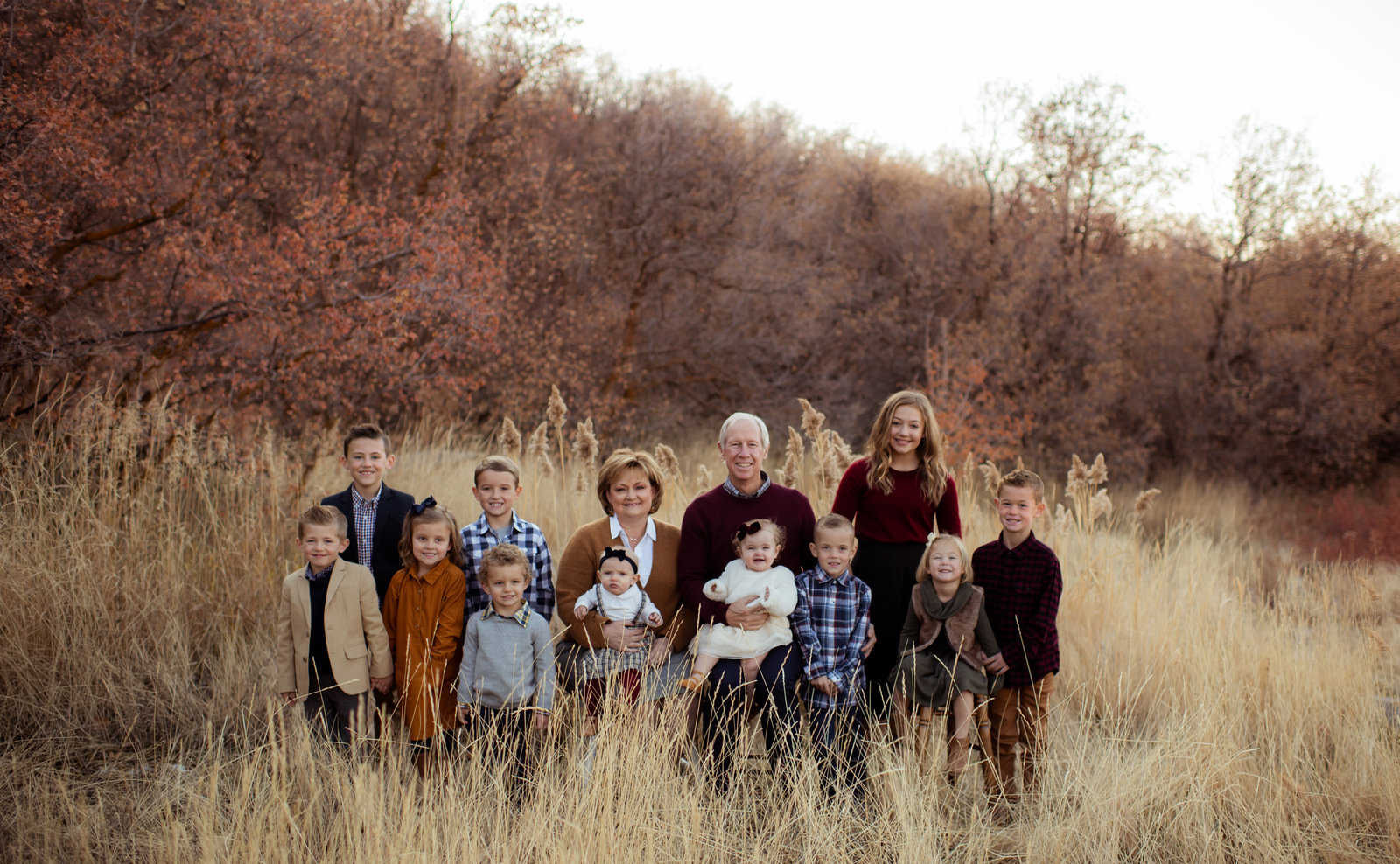 Utah Fall Picture with Grandparents
