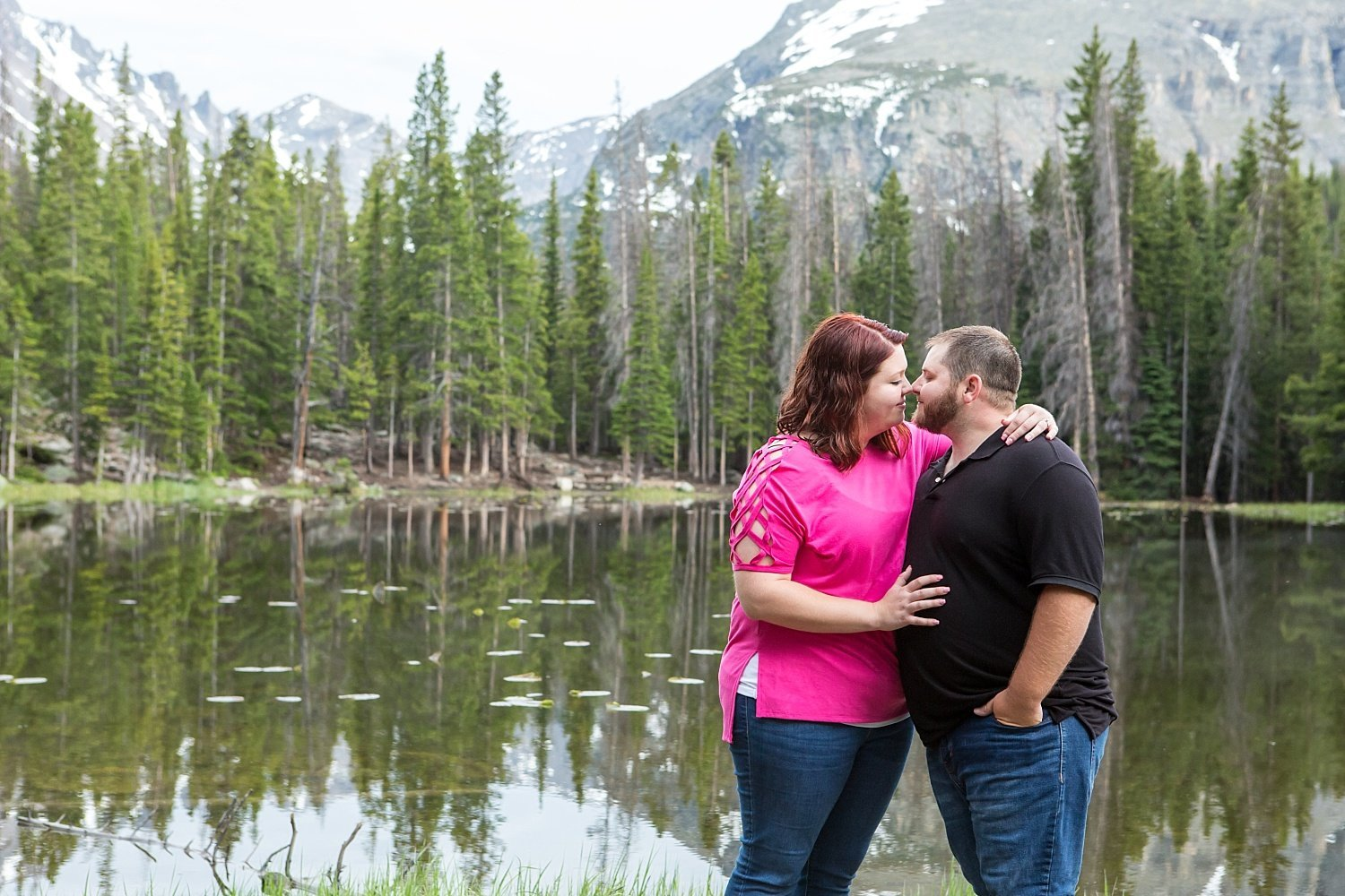 Colorado engagement photos in Rocky Mountain National Park