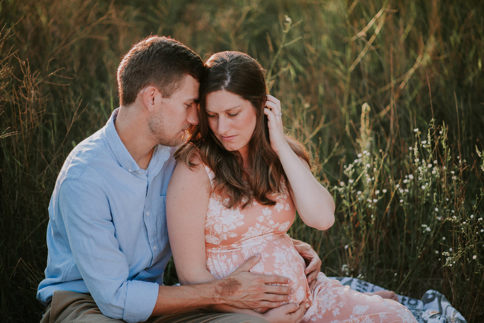 Maternity Couple in Field