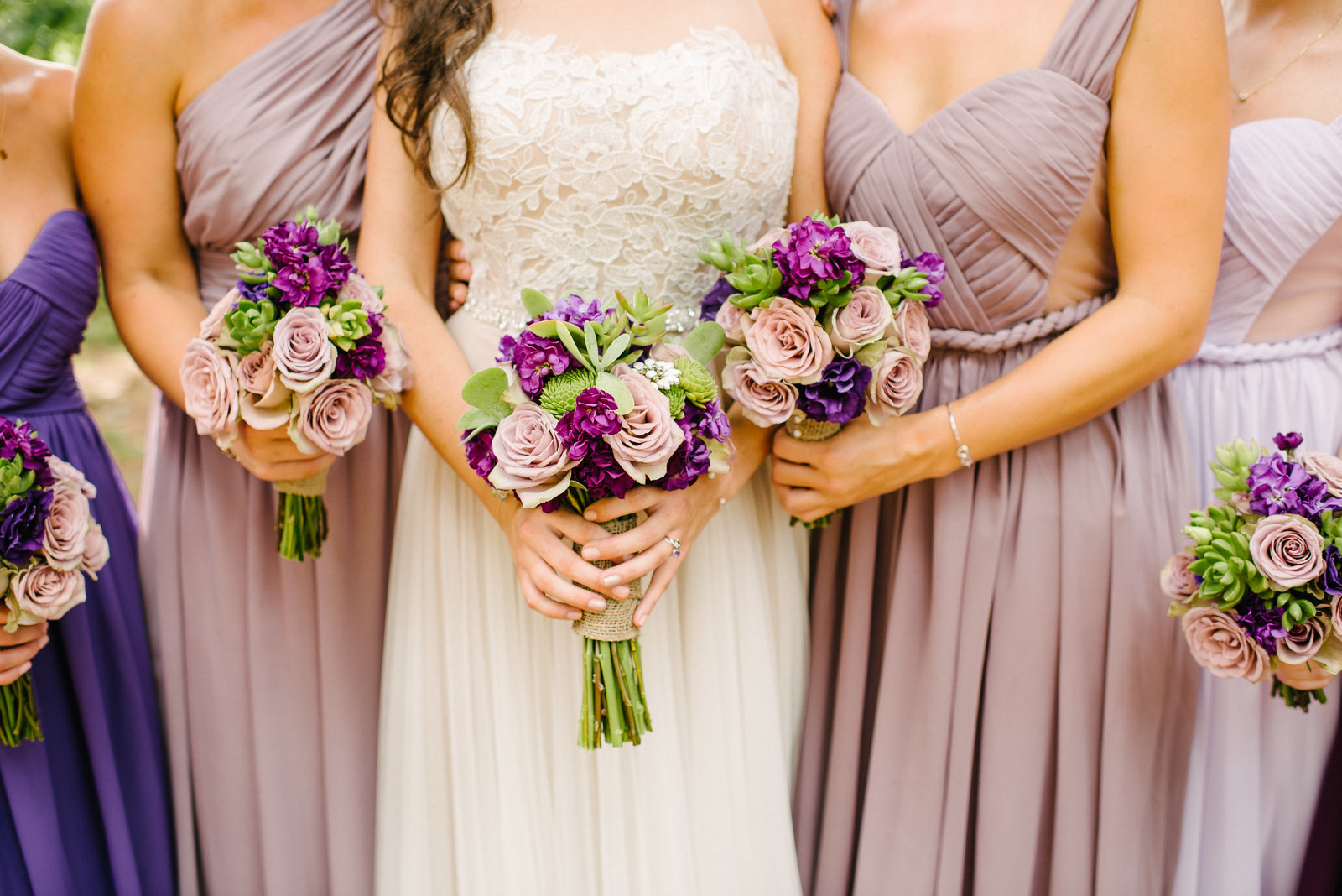 bridal bouquets with succulents