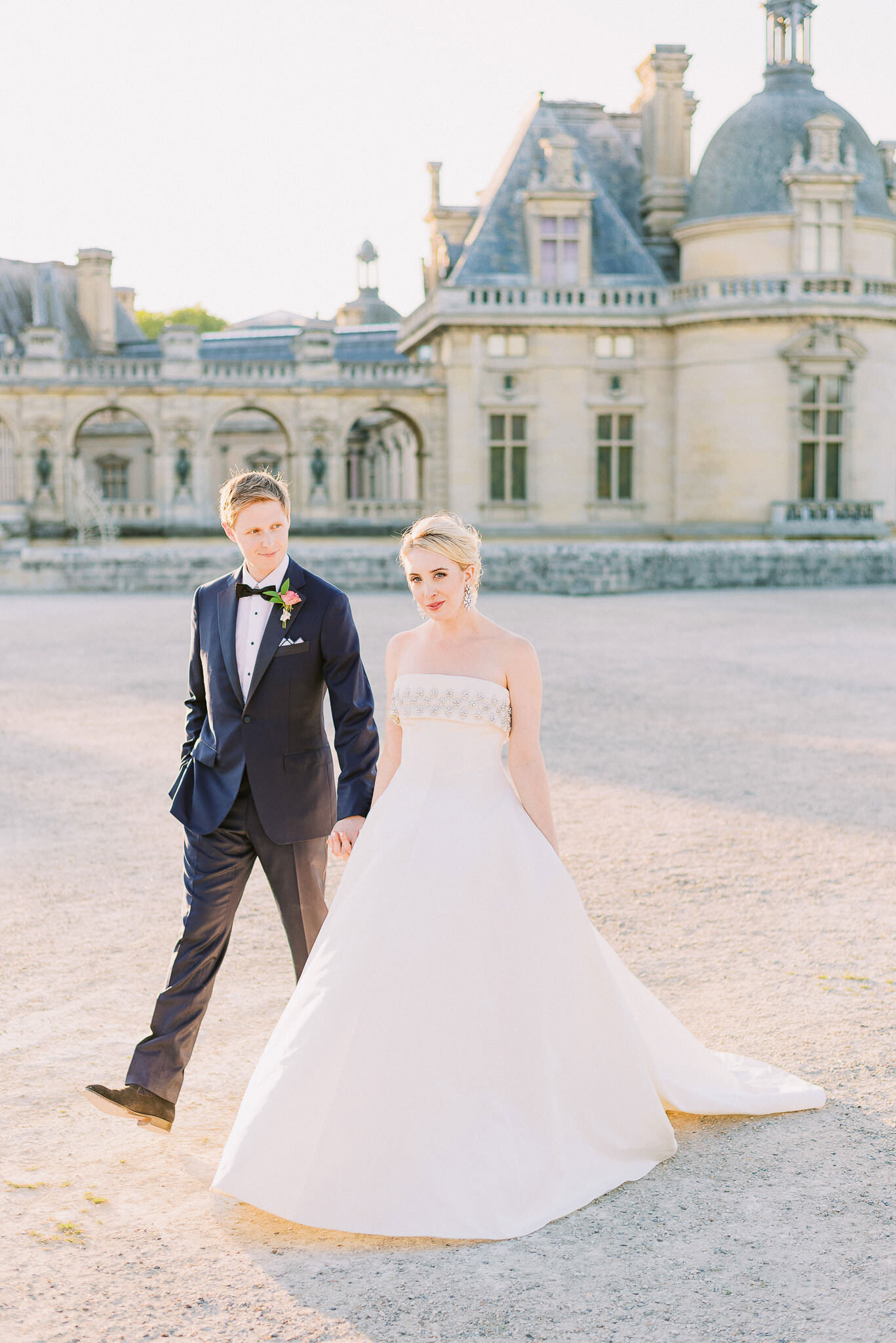 wedding in France Chateau Chantilly
