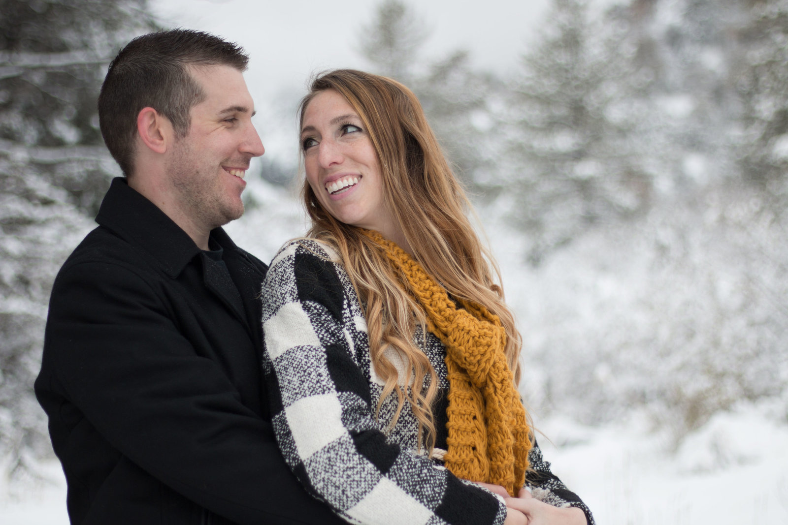 Big Bear engagement session in the snow