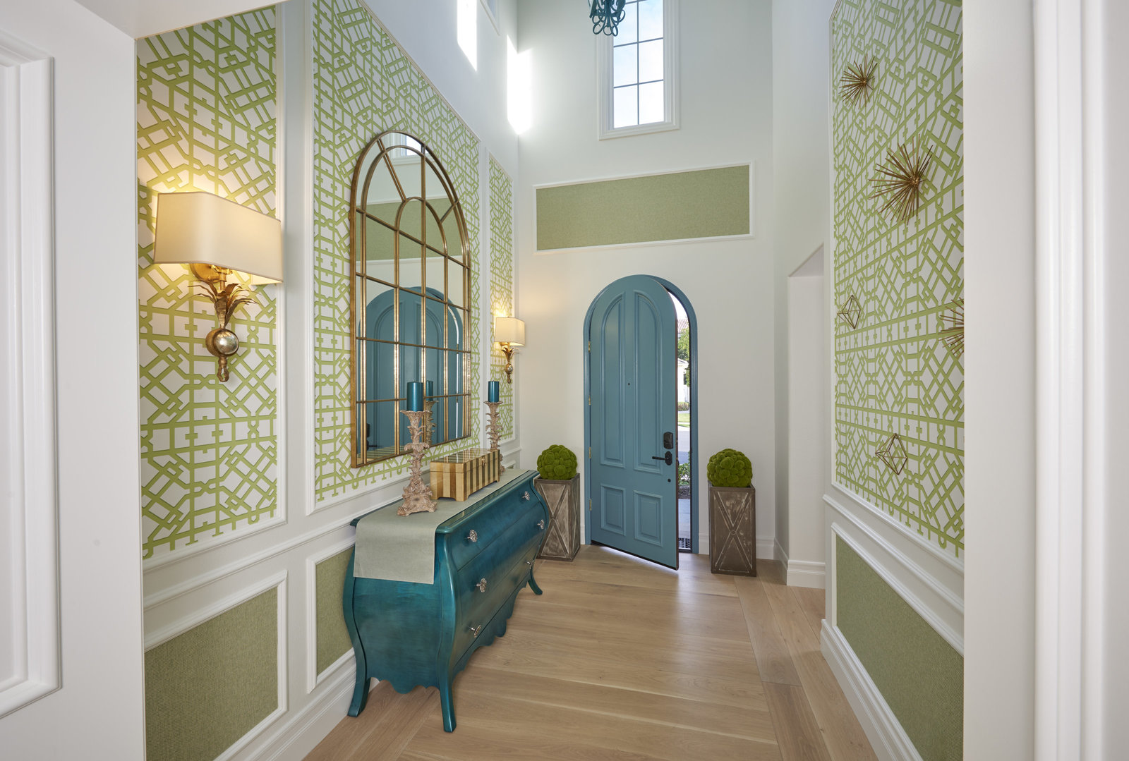 Beach House Blue Green Foyer