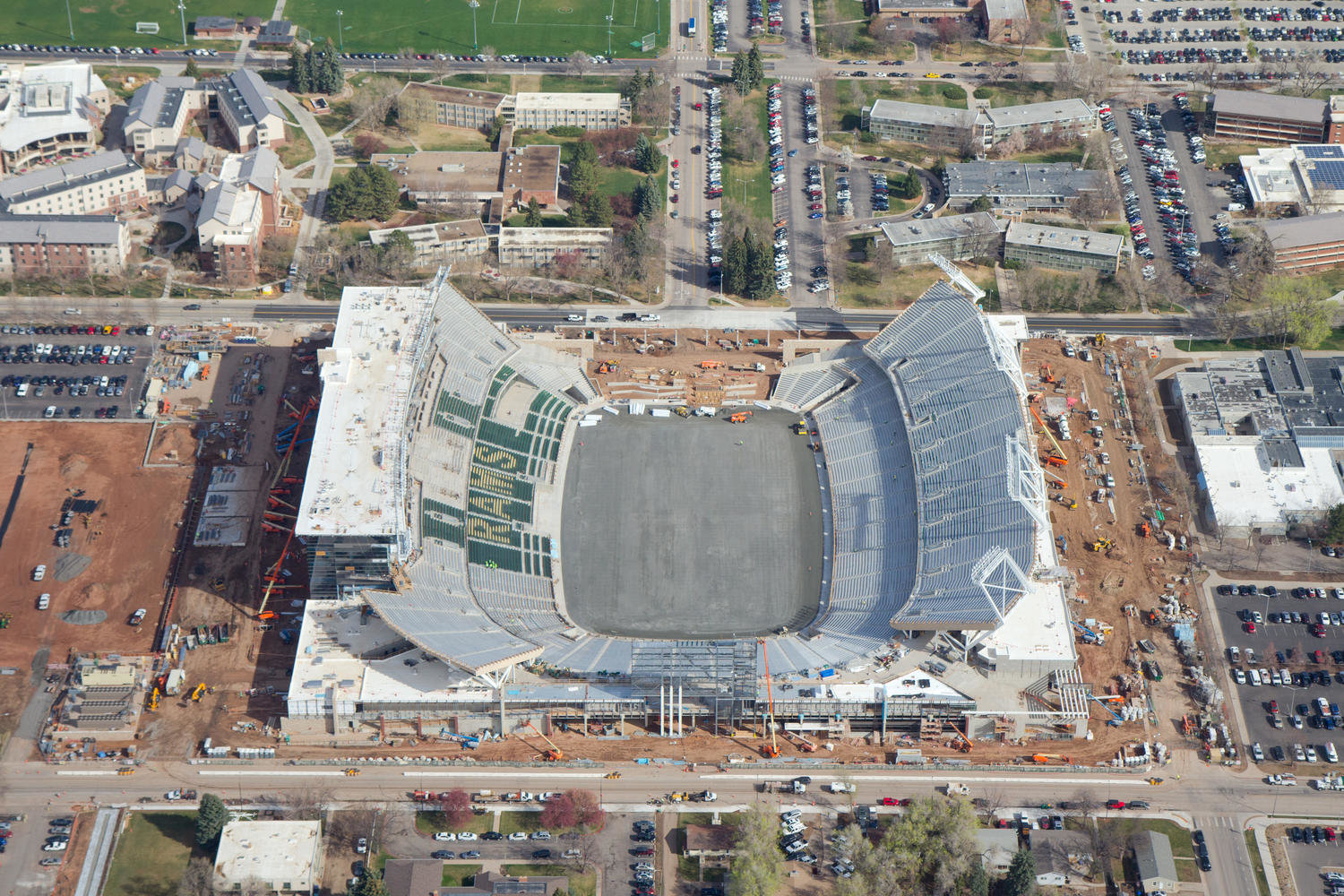 Colorado State Stadium Aerial Photo 7