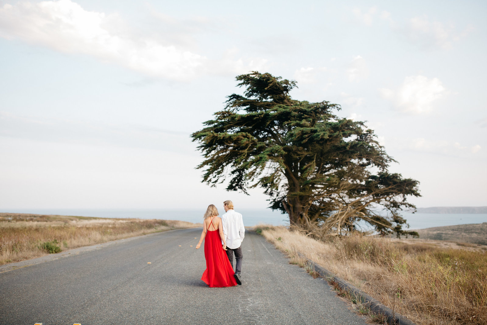 engagement photos in point reyes california