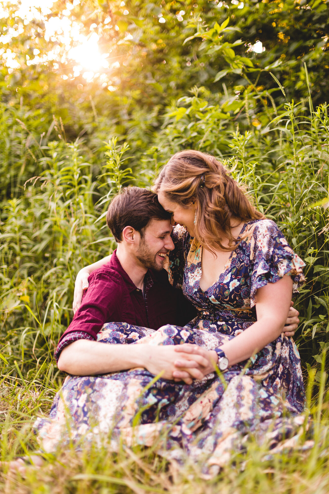engaged couple portraits in ohio park