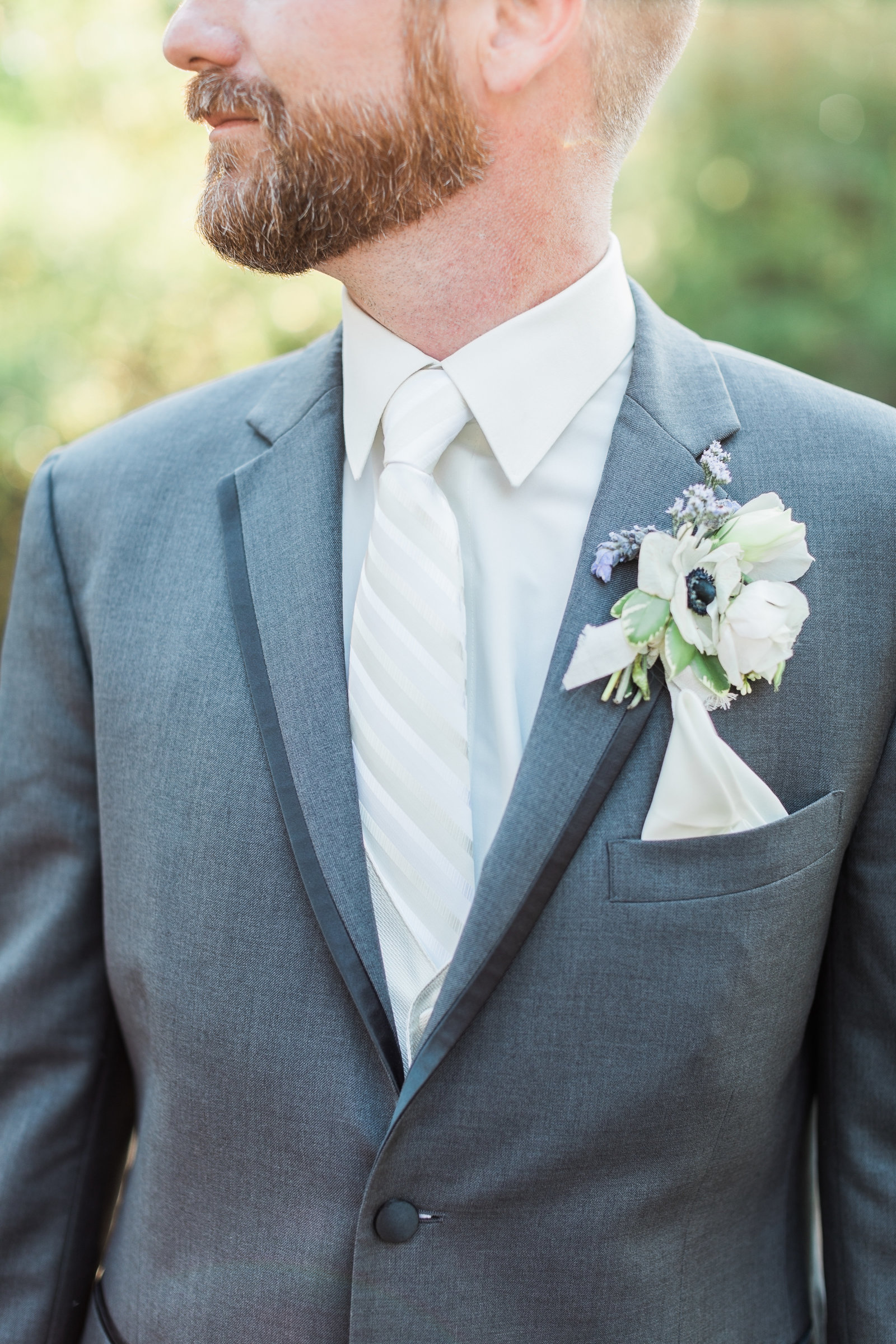 Groom in Grey and White