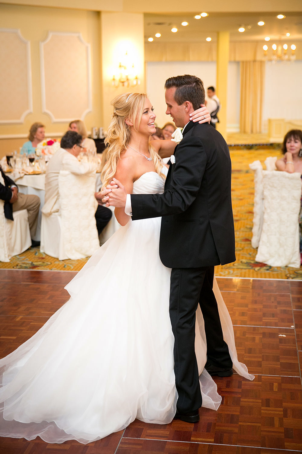 The first dance inside the elegant Hotel Del Coronado