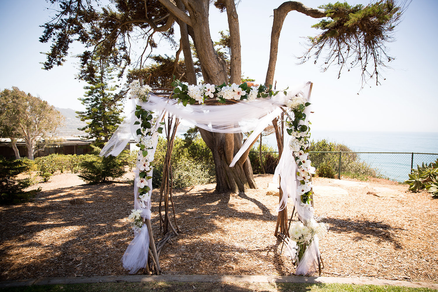 outside ceremony space