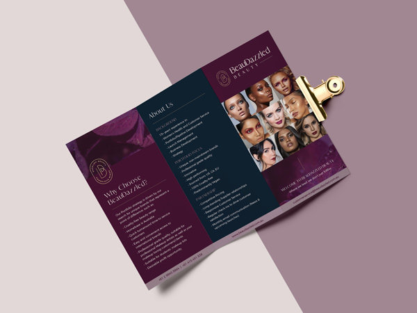 brochure design for beauty industry