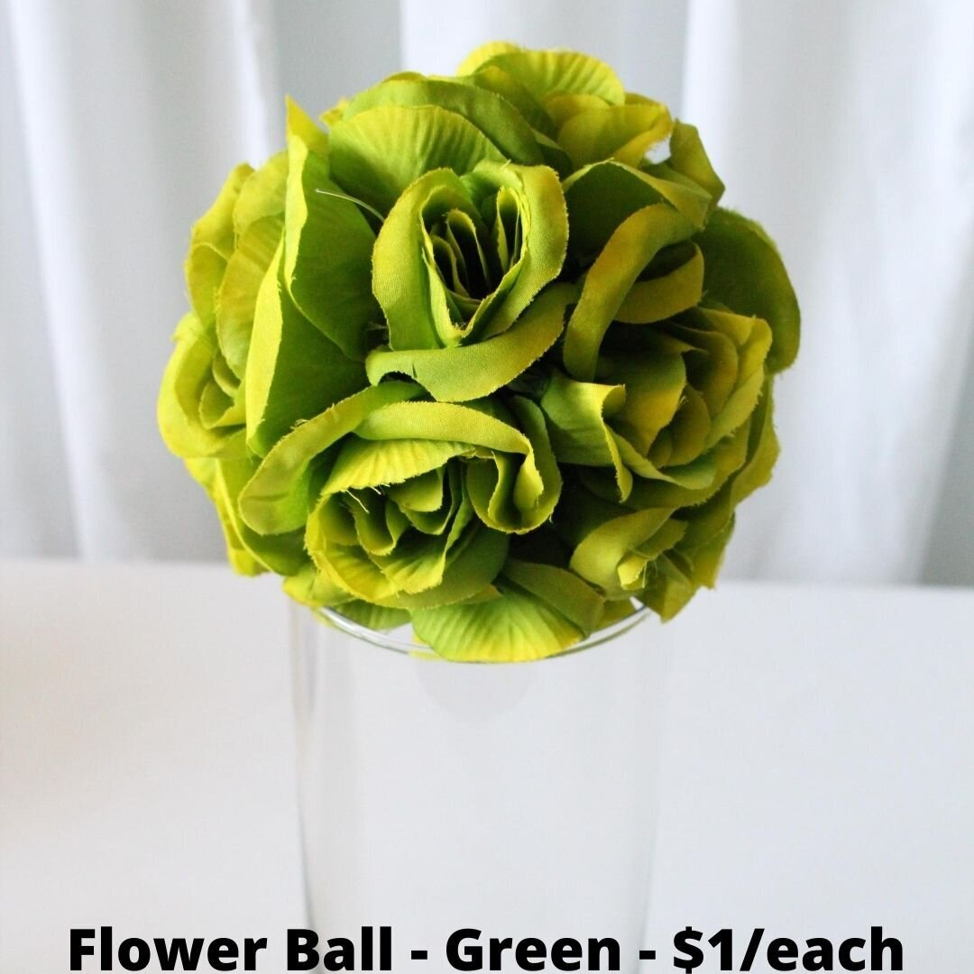 green flower ball