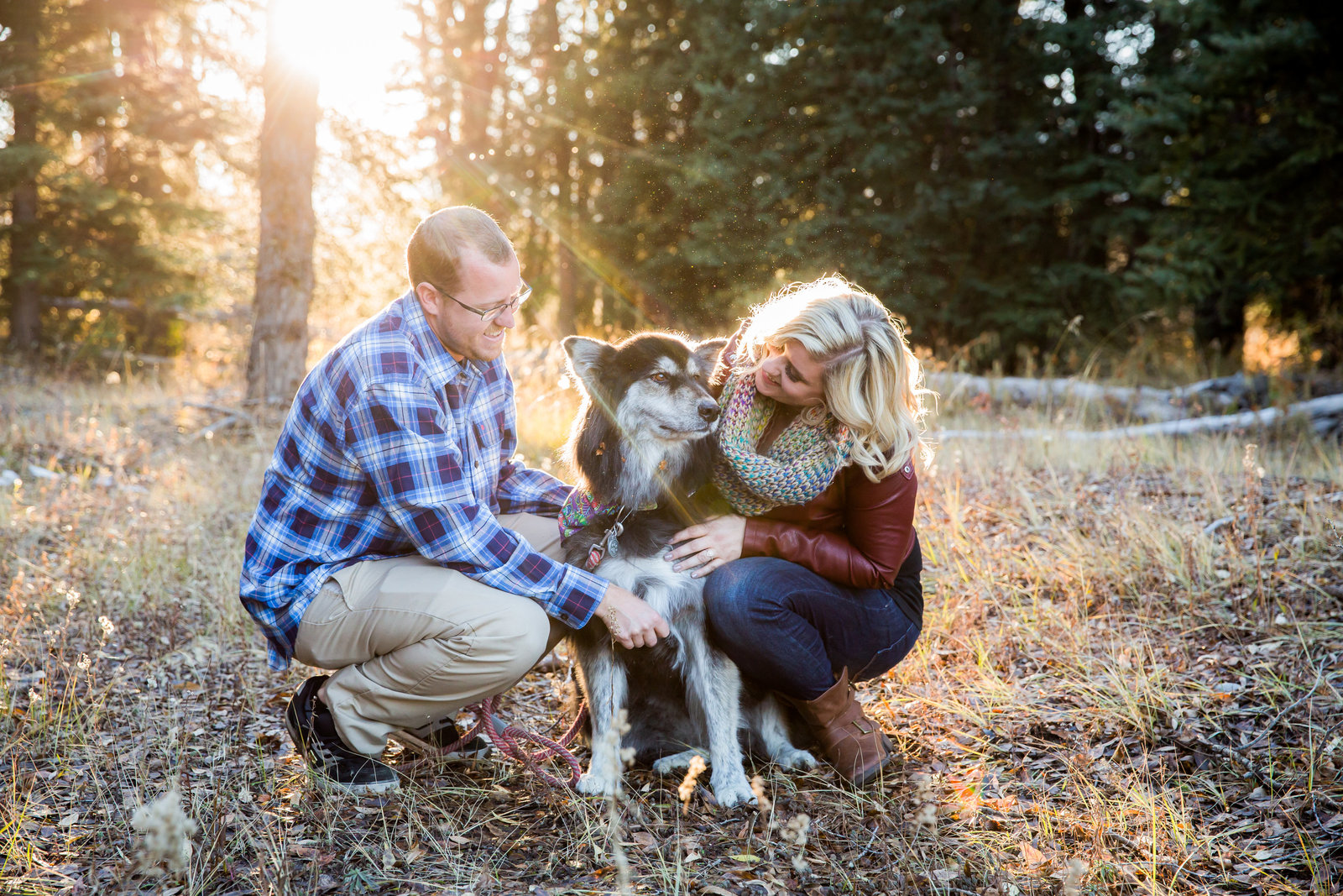 Engagement session Jackson Hole with dog