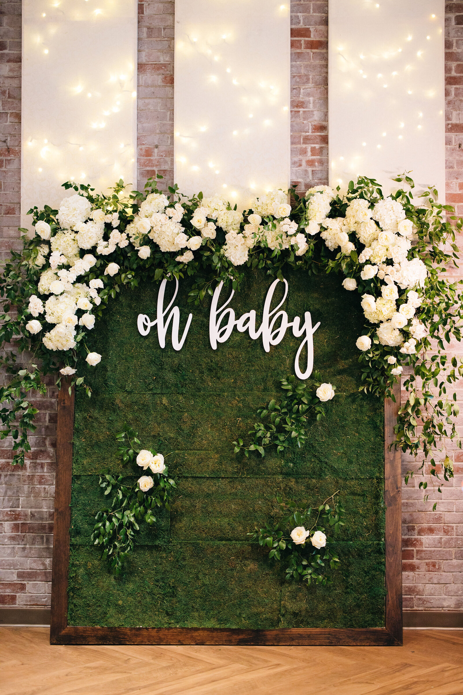Baby Shower Floral Wall