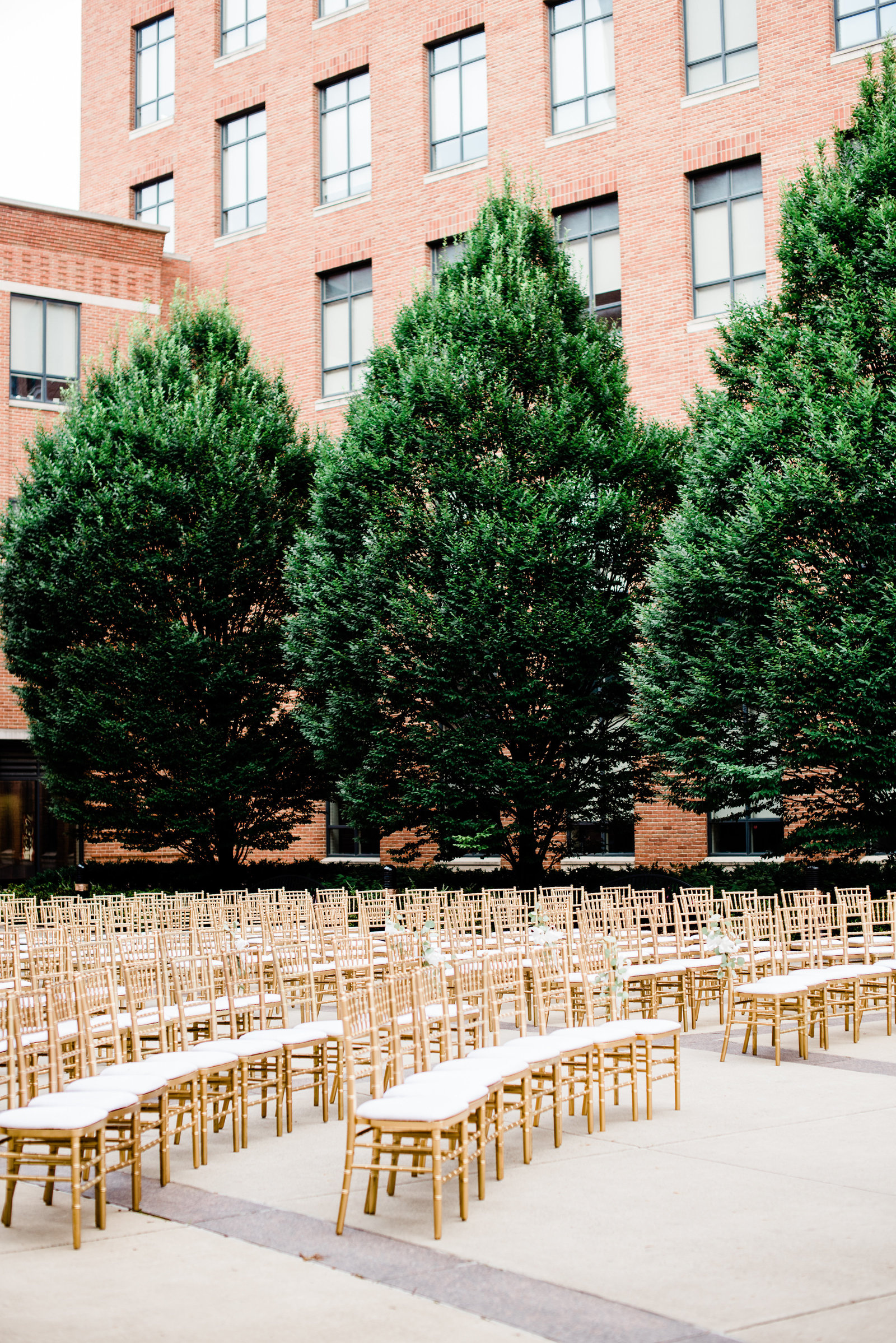 the blackwell osu wedding ceremony chiavari chairs
