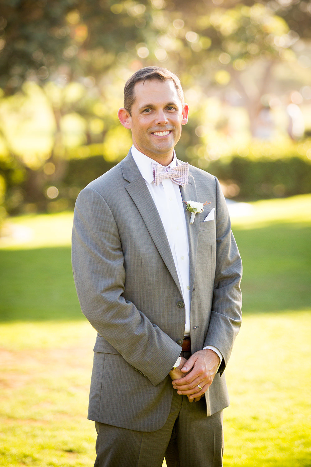 Traditional grooms portrait in La Jolla