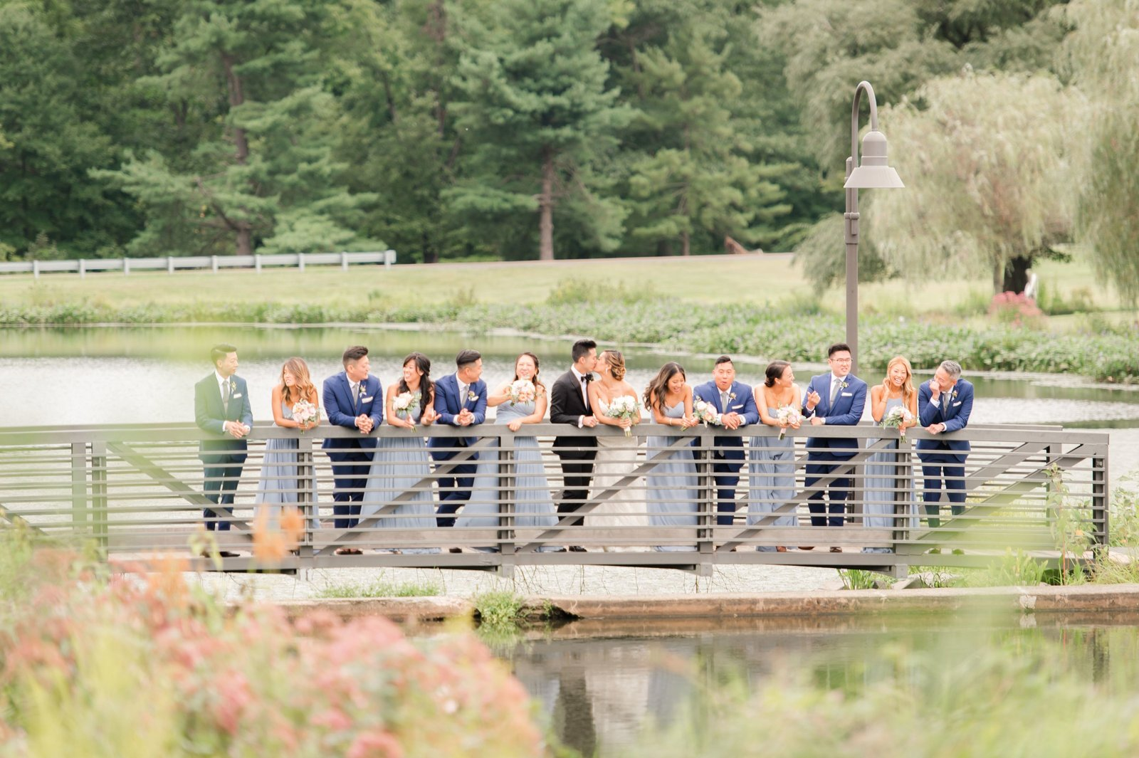 bridal party photo in Princeton