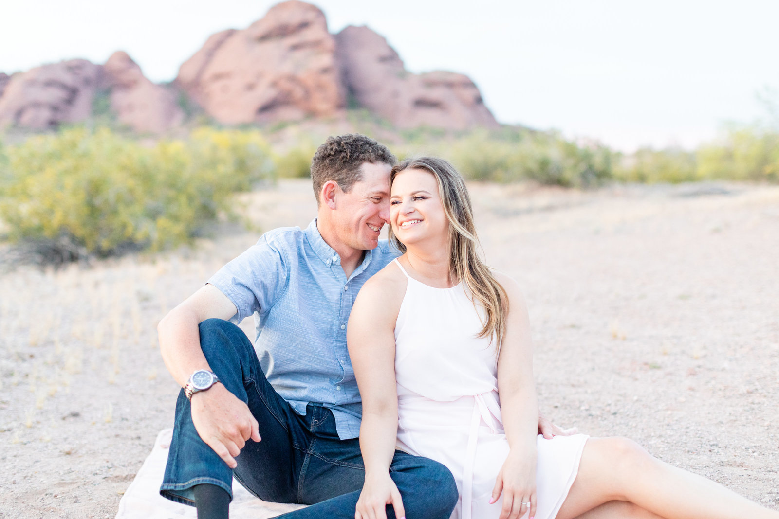 Britt & Jeff - Papago Engagement Session -227