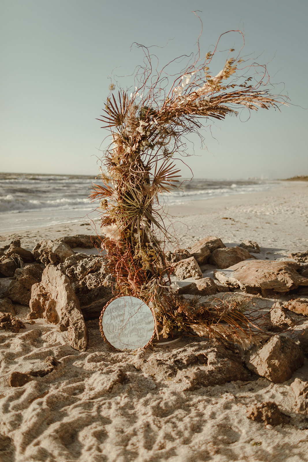 Celestial wedding inspiration_ beach elopement style-101