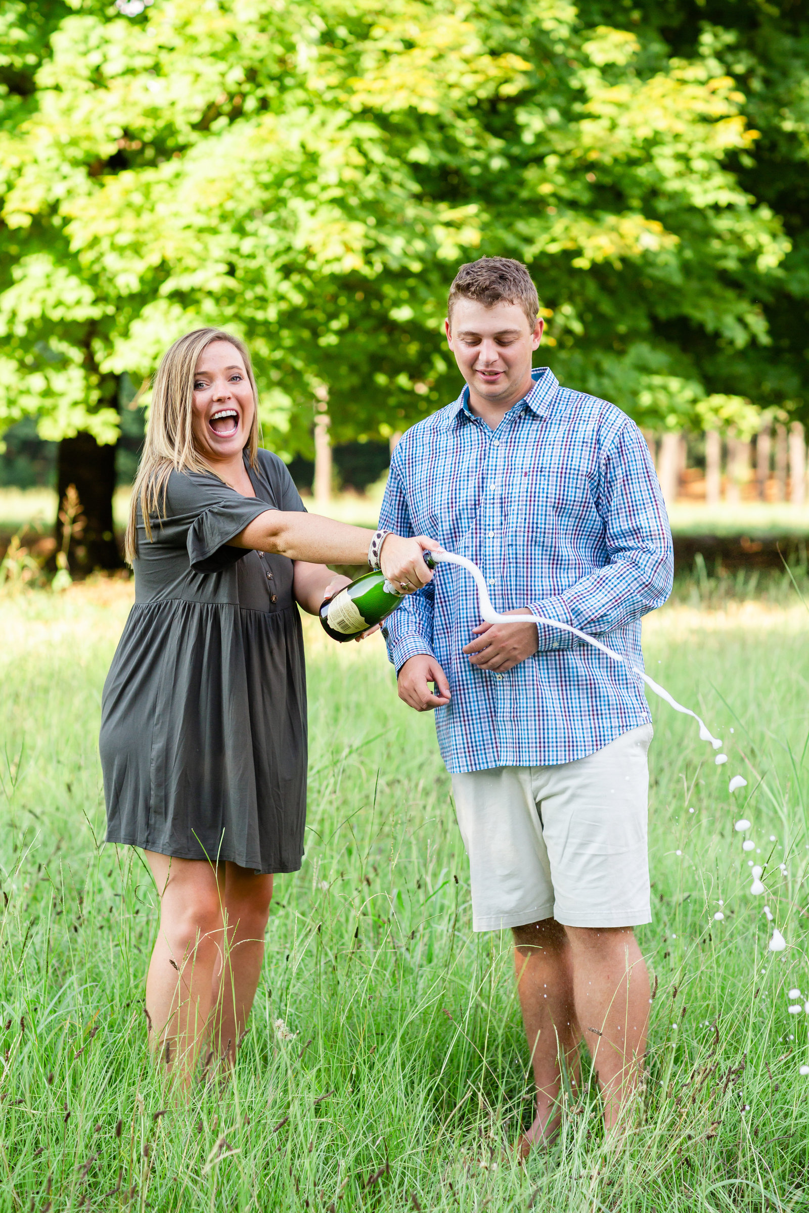 greenville-photographer-engagement-champagne-popping