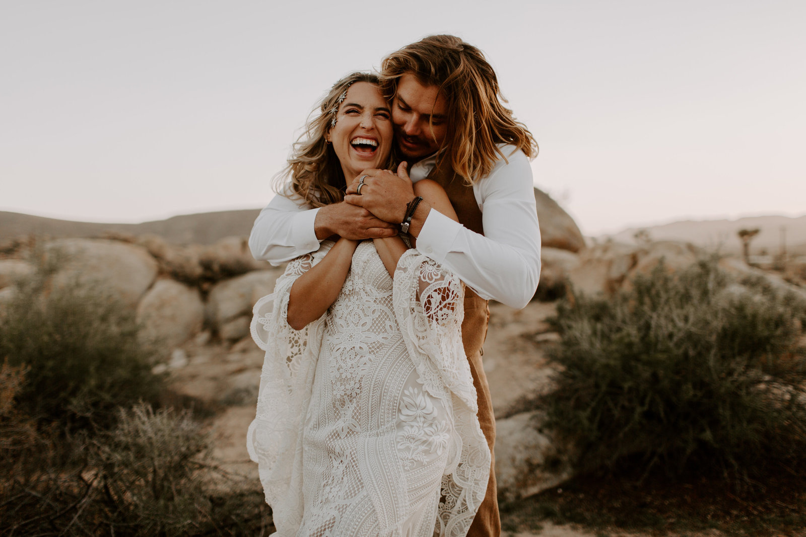 Intimate Joshua Tree Elopement at the Ruin wedding venue
