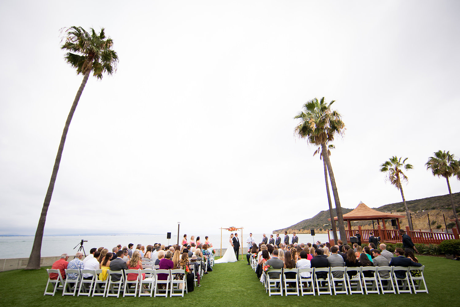 ceremony at ocean view room