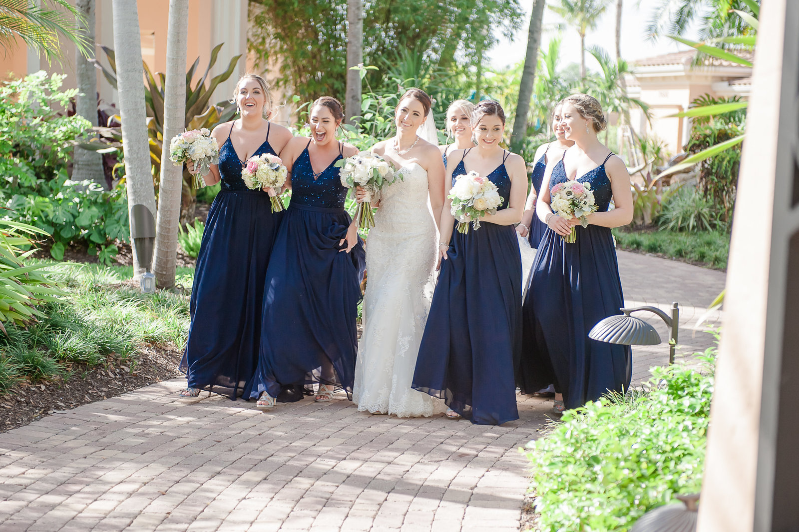 Bride and Bridesmaids - Country Club at Mirasol Wedding - Palm Beach Wedding Photography by Palm Beach Photography, Inc.