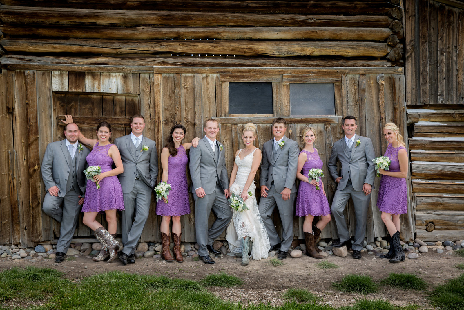 Bridal Party at the Moulton Barn in Grand Teton National Park