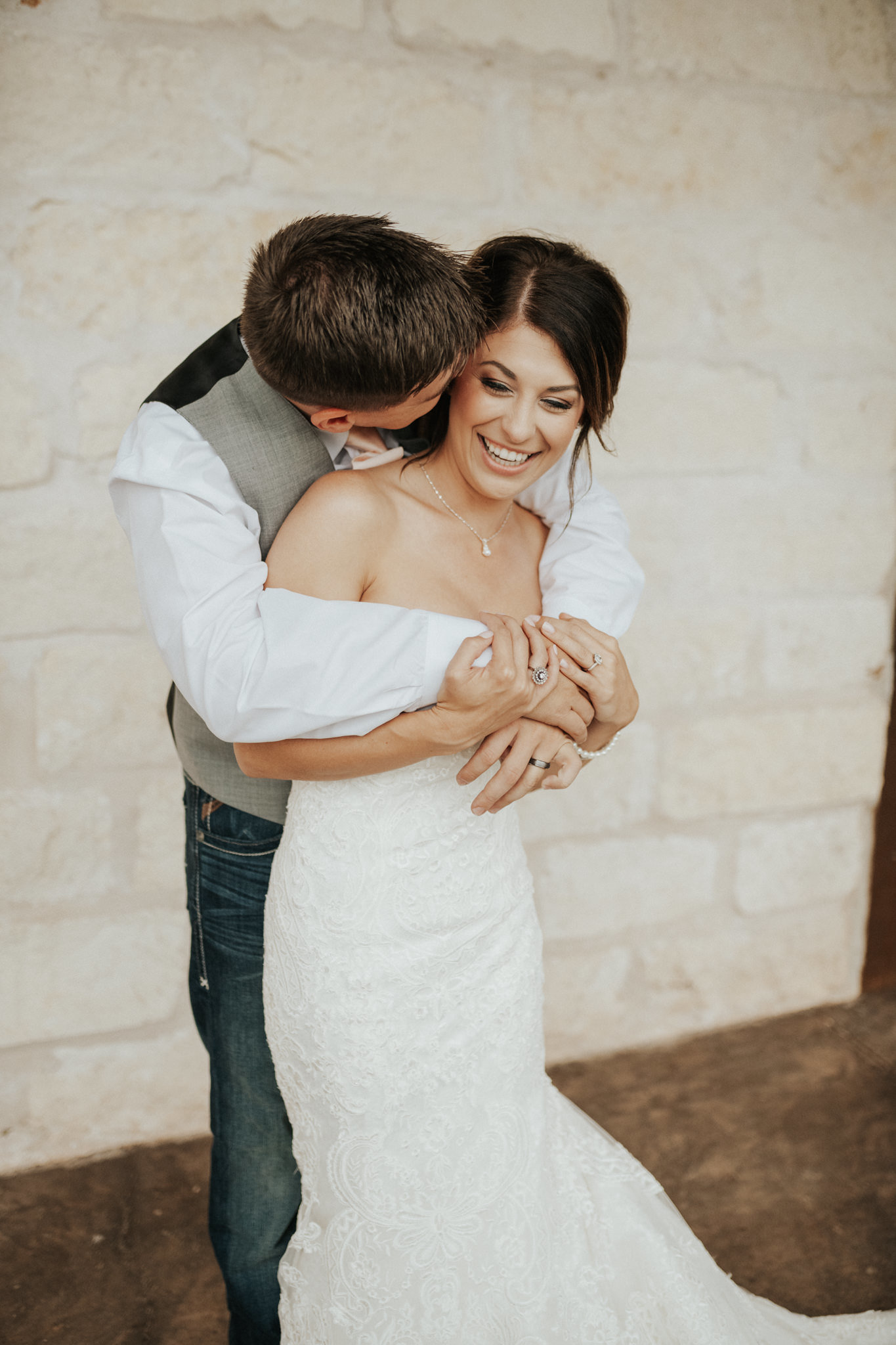 A bride and groom photo at their Oklahoma wedding at The Springs Event Venue.