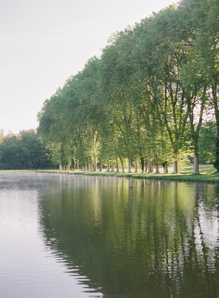Large lake with trees lining the outskirts
