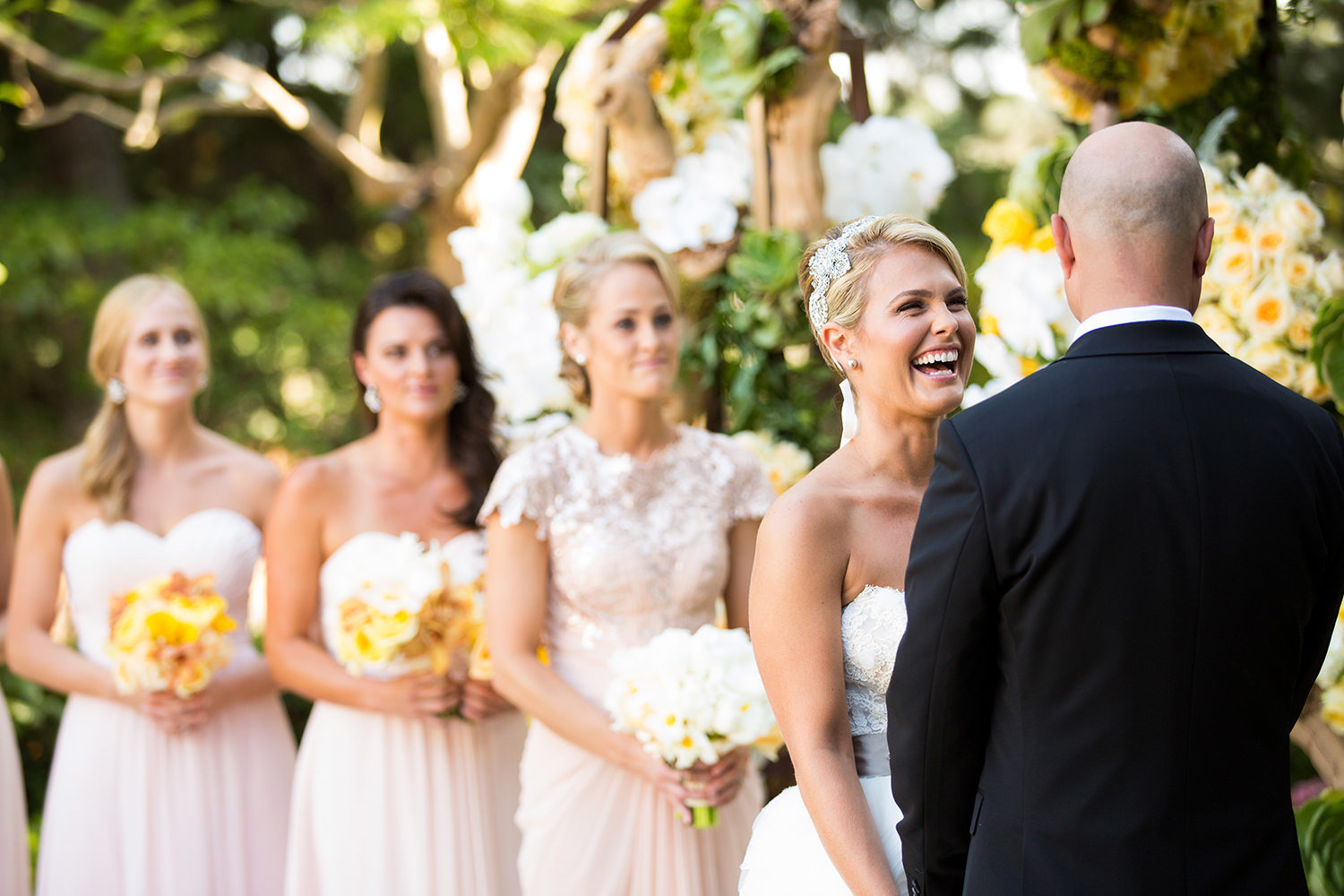 Laughter during the wedding vows is one of our favorite moments