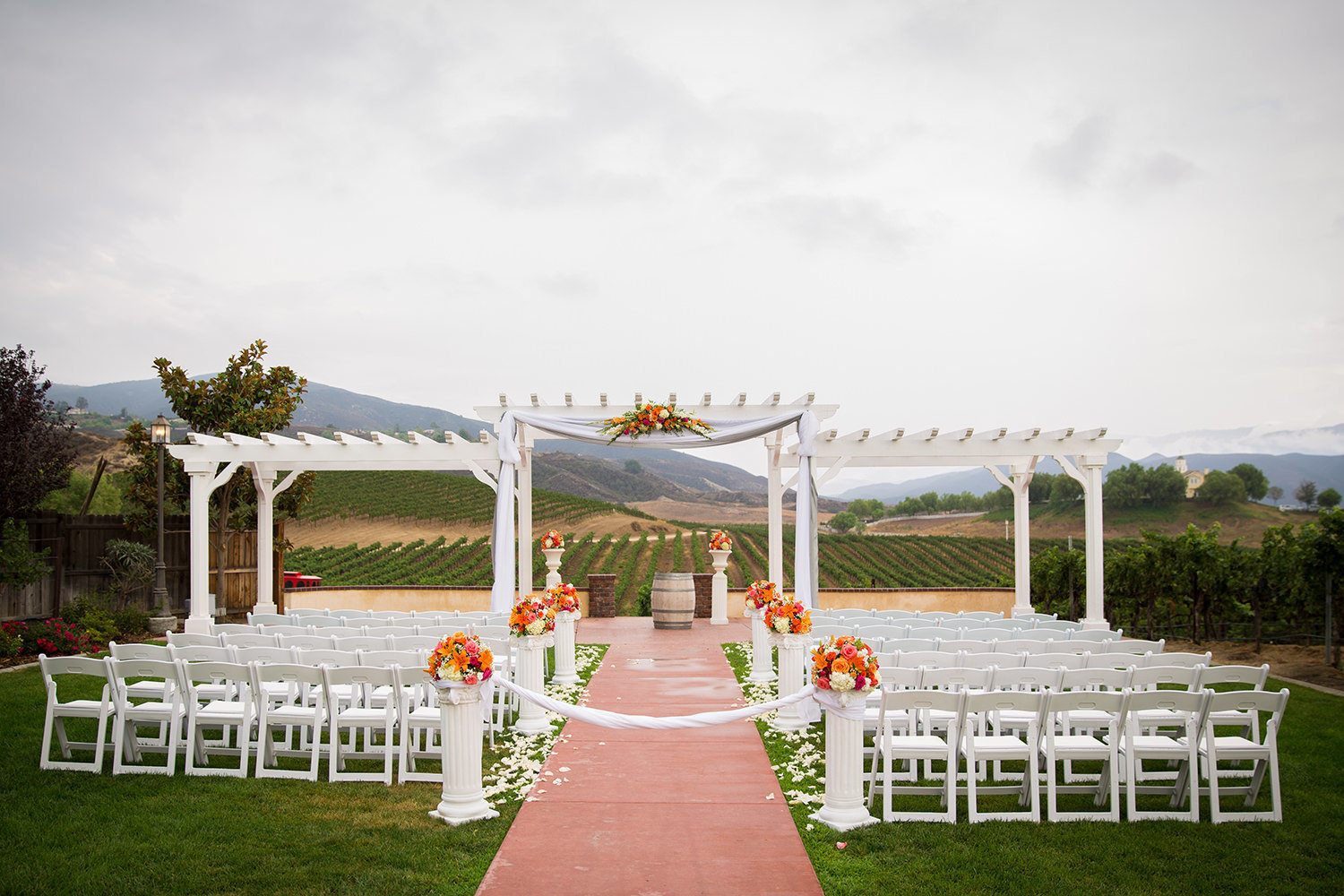 ceremony space at leoness cellars