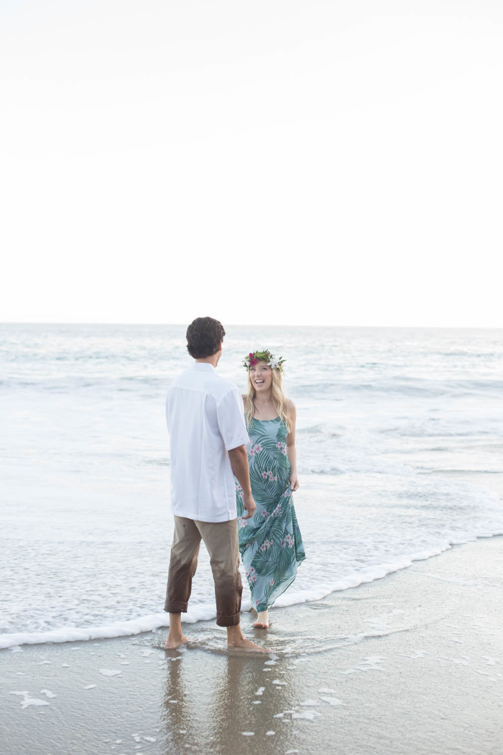 beach engagement session at laguna beach