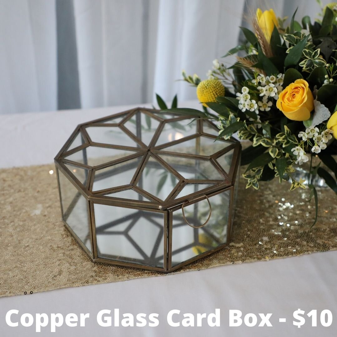 copper glass card box