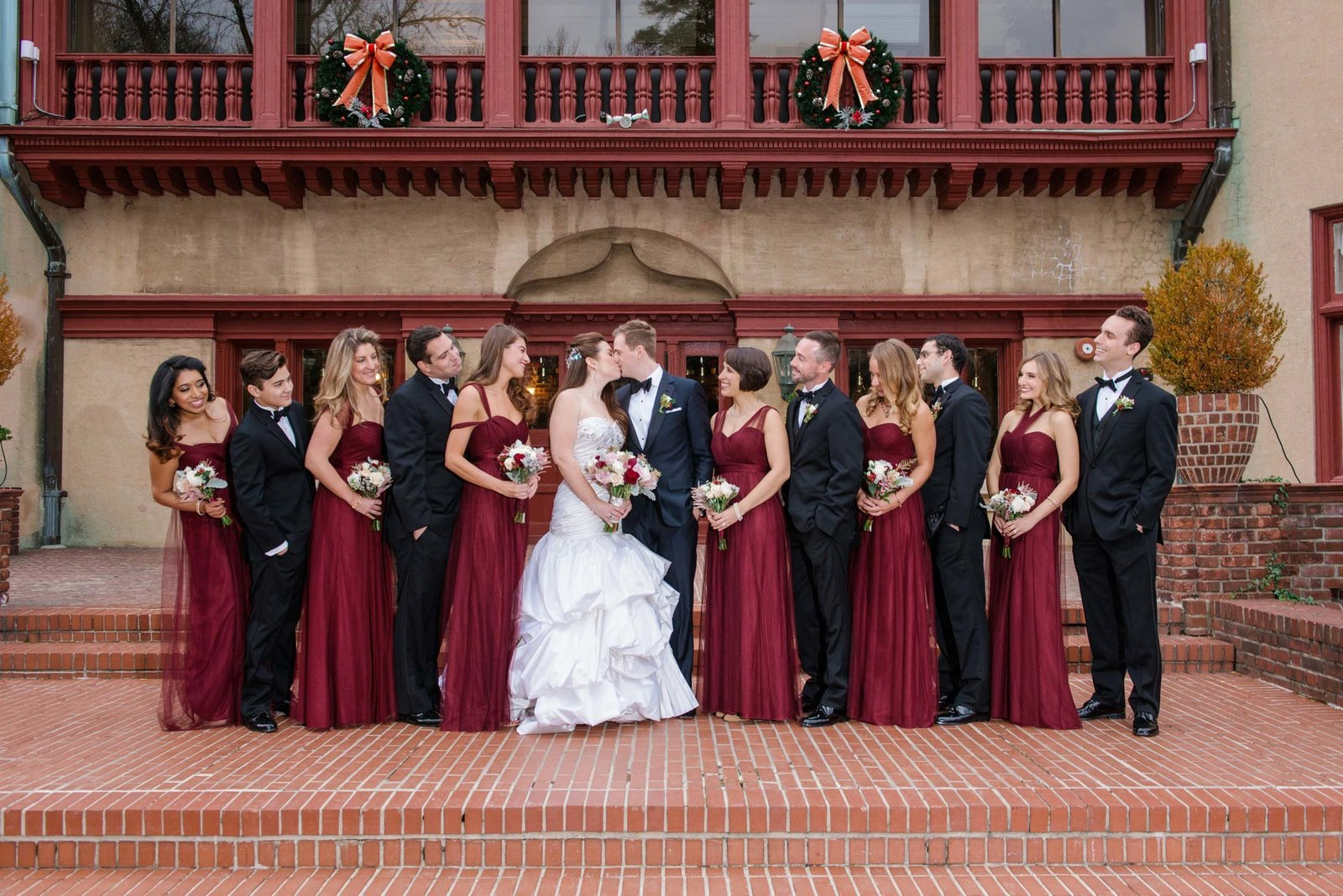 Bridal party photos at Coindre Hall