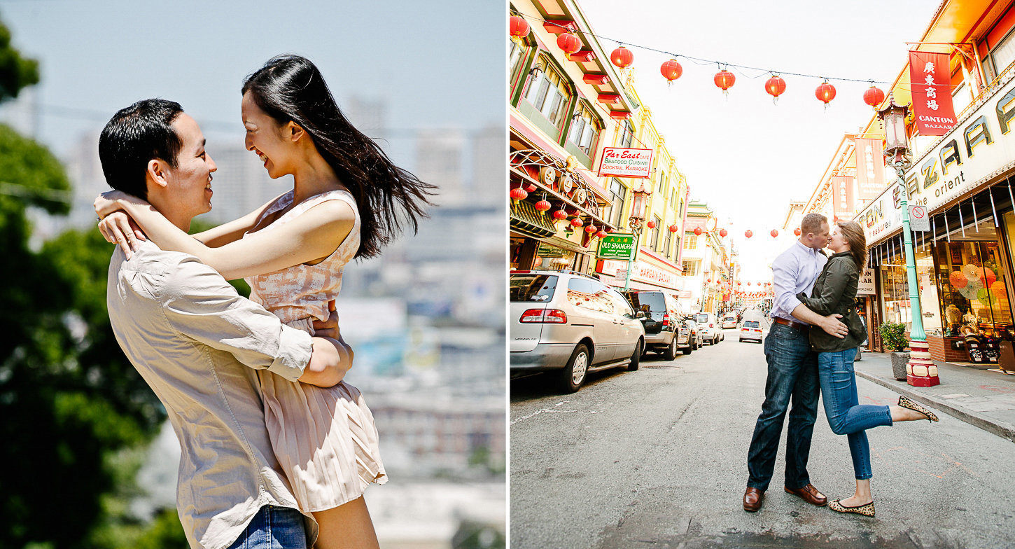 Engagement photography in China town San Francisco