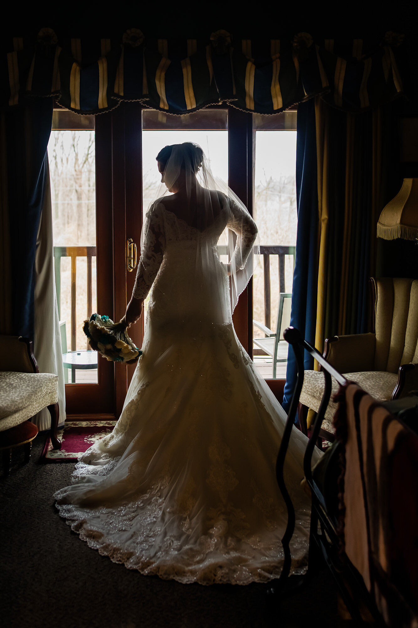 Dramatic portrait of a bride in St. Louis