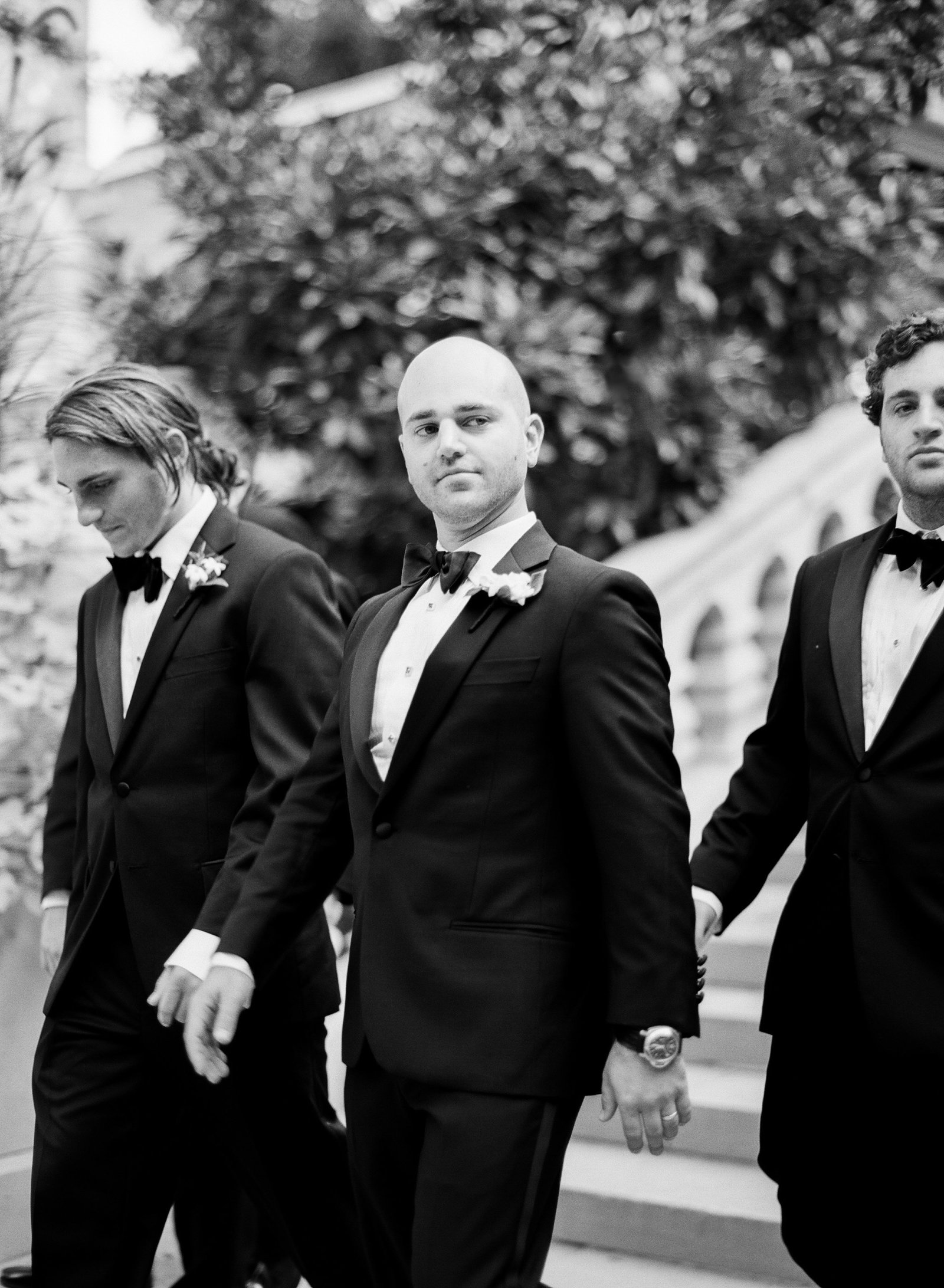 groomsmen looking dapper in tu