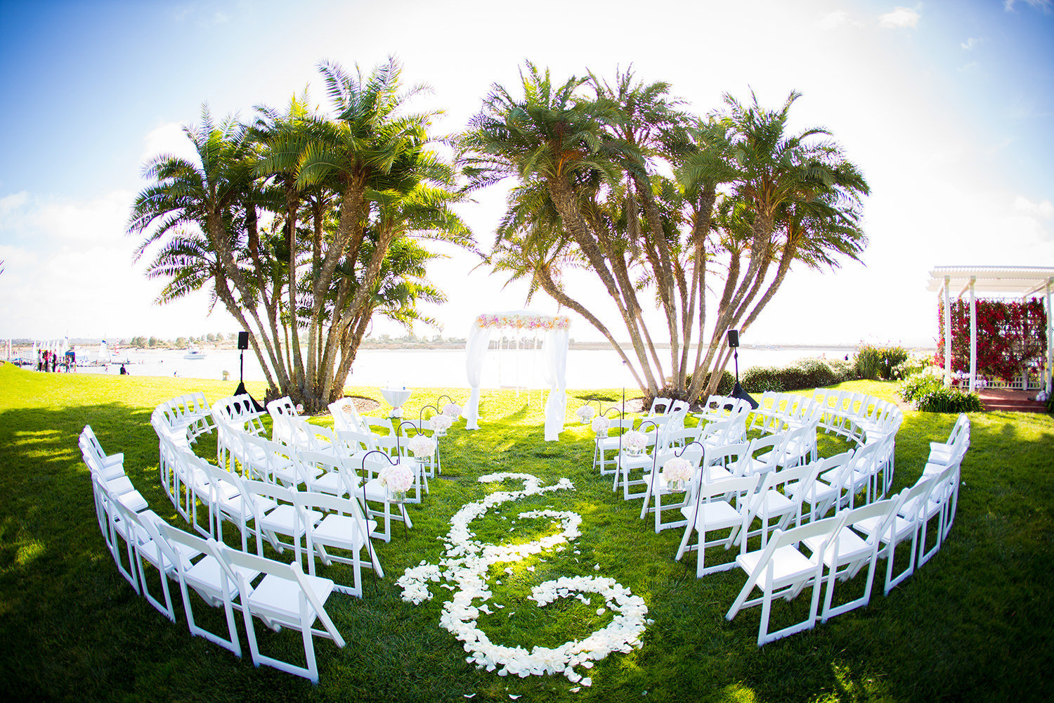 stunning ceremony space at hilton mission bay