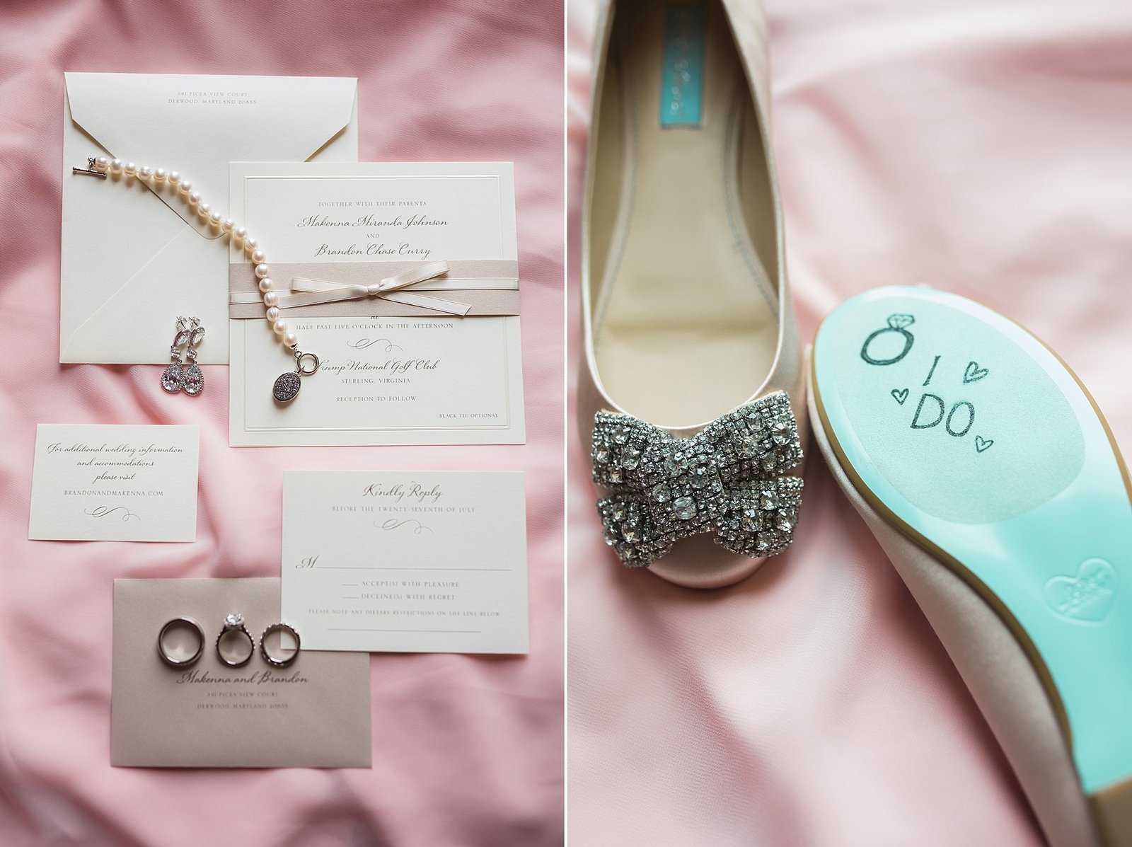 M Harris Studios_Trump National Golf Club Wedding_wedding shoes