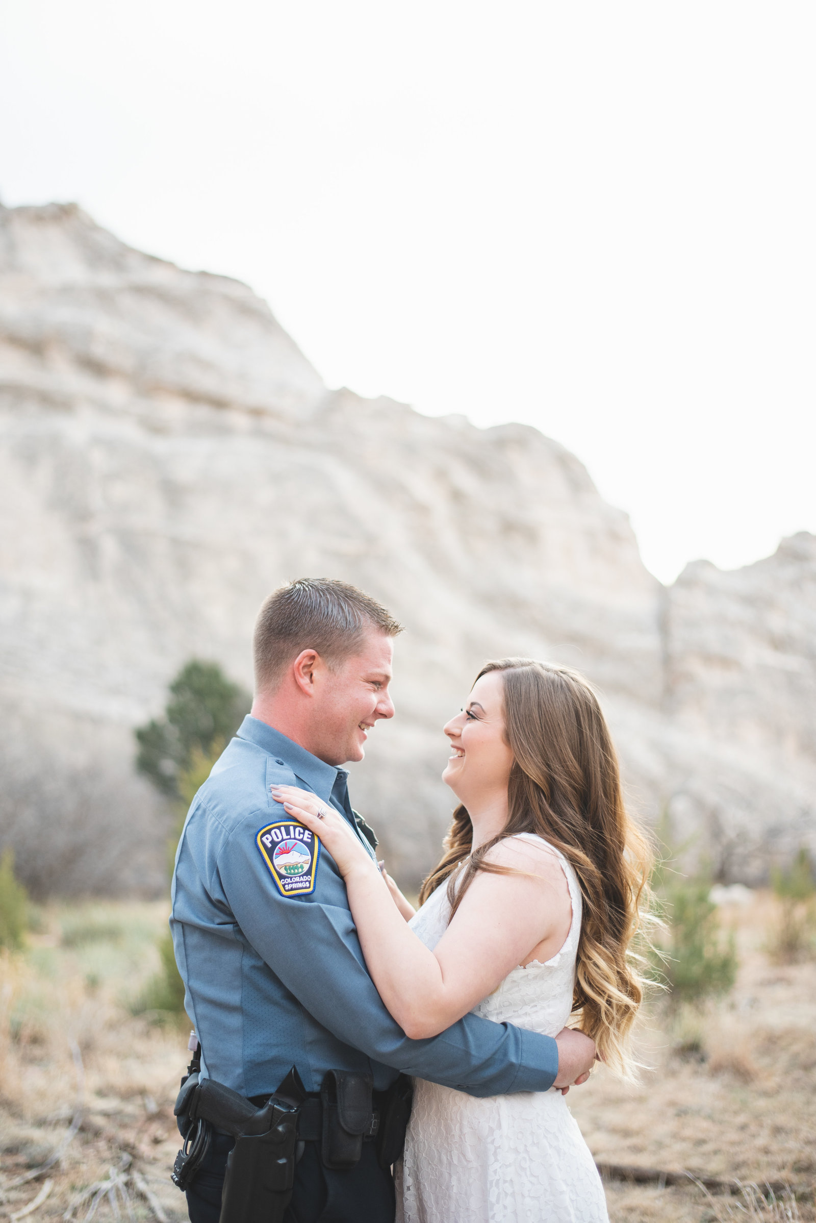engagement session at garden of the gods