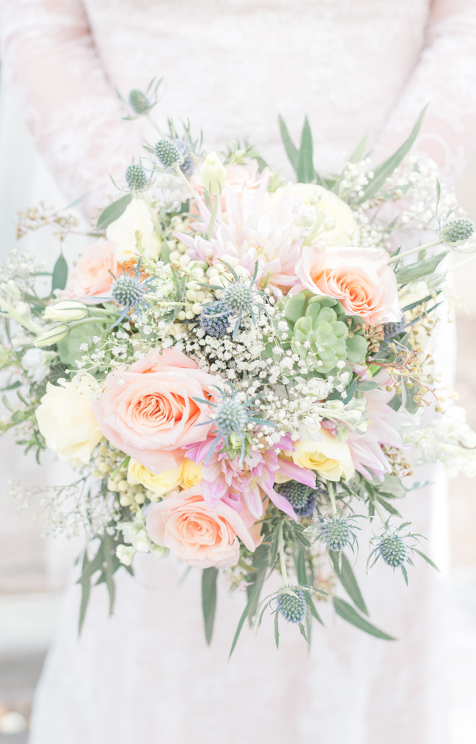 Gorgeous wedding bouquet photography