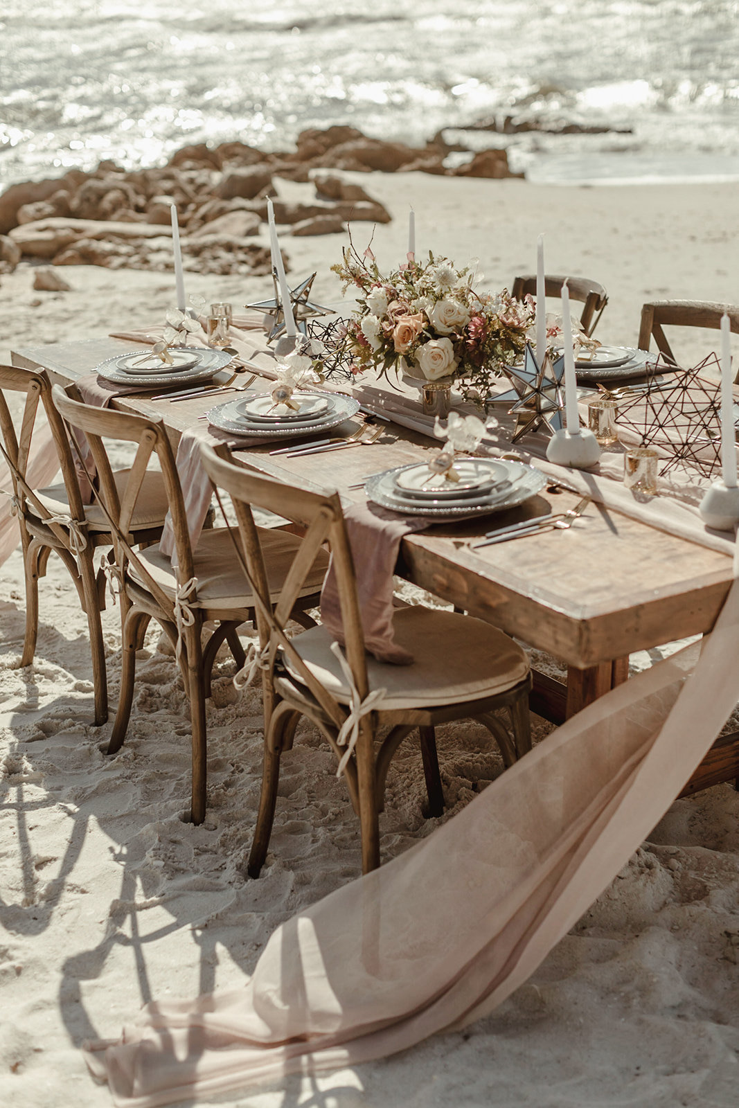 Celestial wedding inspiration_ beach elopement style-19