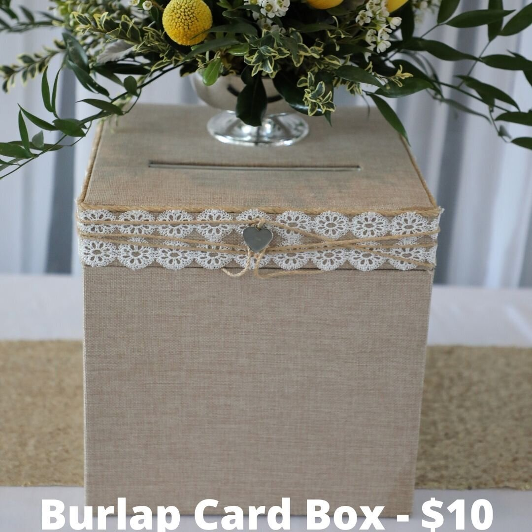 burlap card box