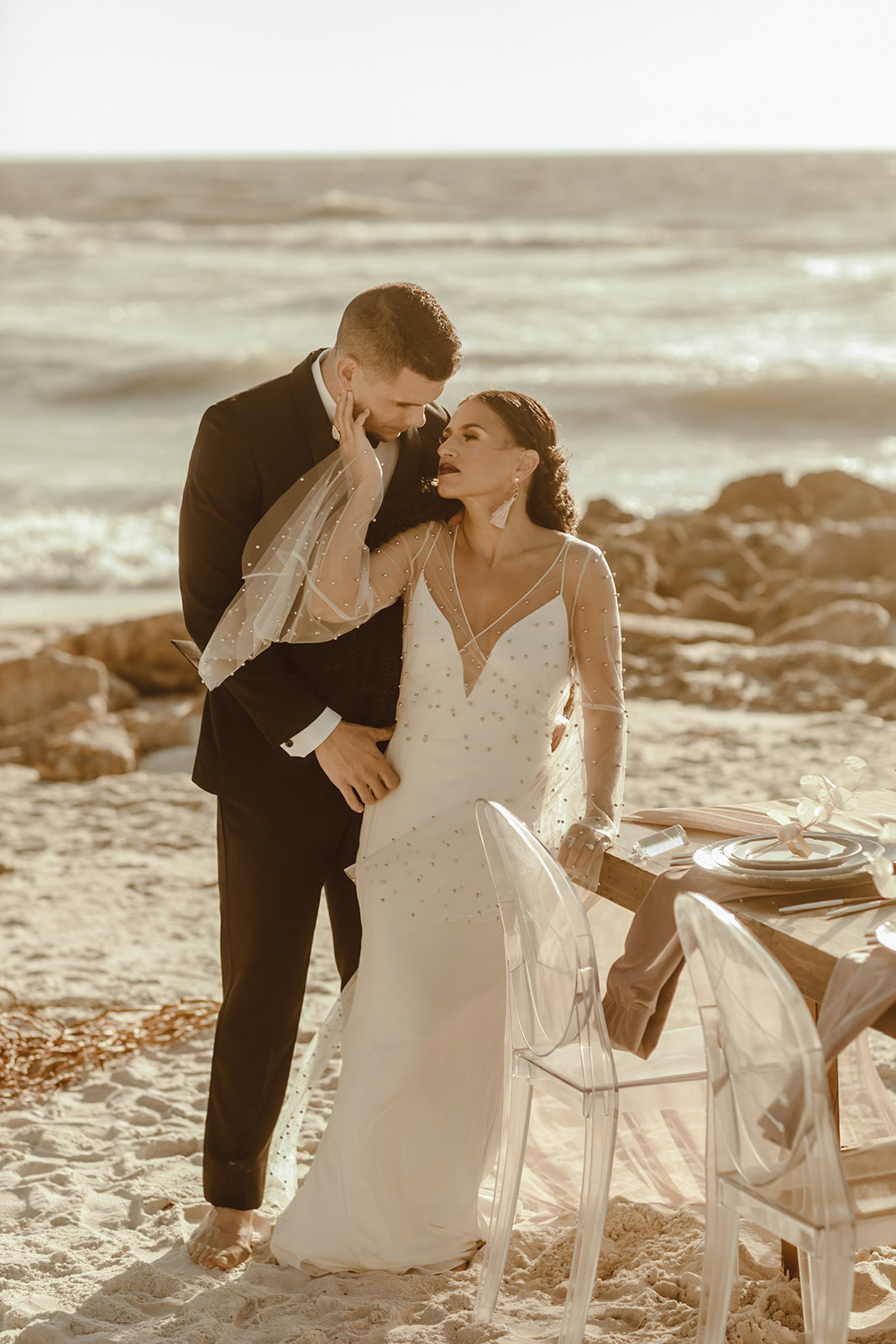 Celestial wedding inspiration_ beach elopement style-93