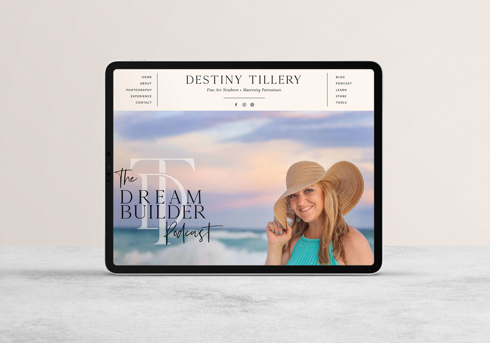 Destiny-Tillery-custom-showit-website