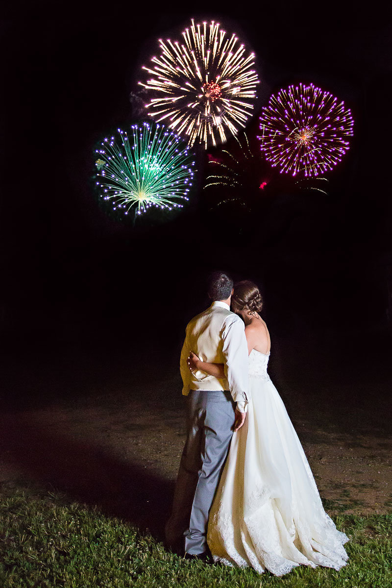 fireworks image at a wedding at liberty mountain resort in maryland