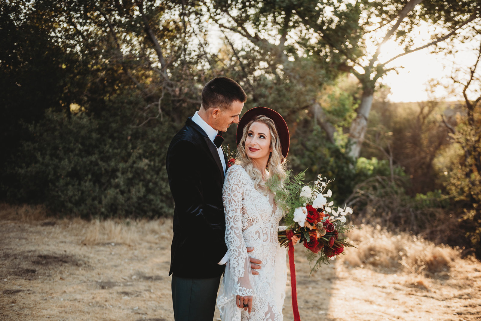 Boho Bride and Groom by McKinney Dallas Fort-Worth Metroplex Wedding Photographer