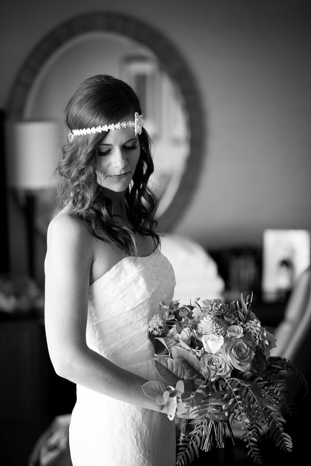 Classy bridal portrait before the ceremony