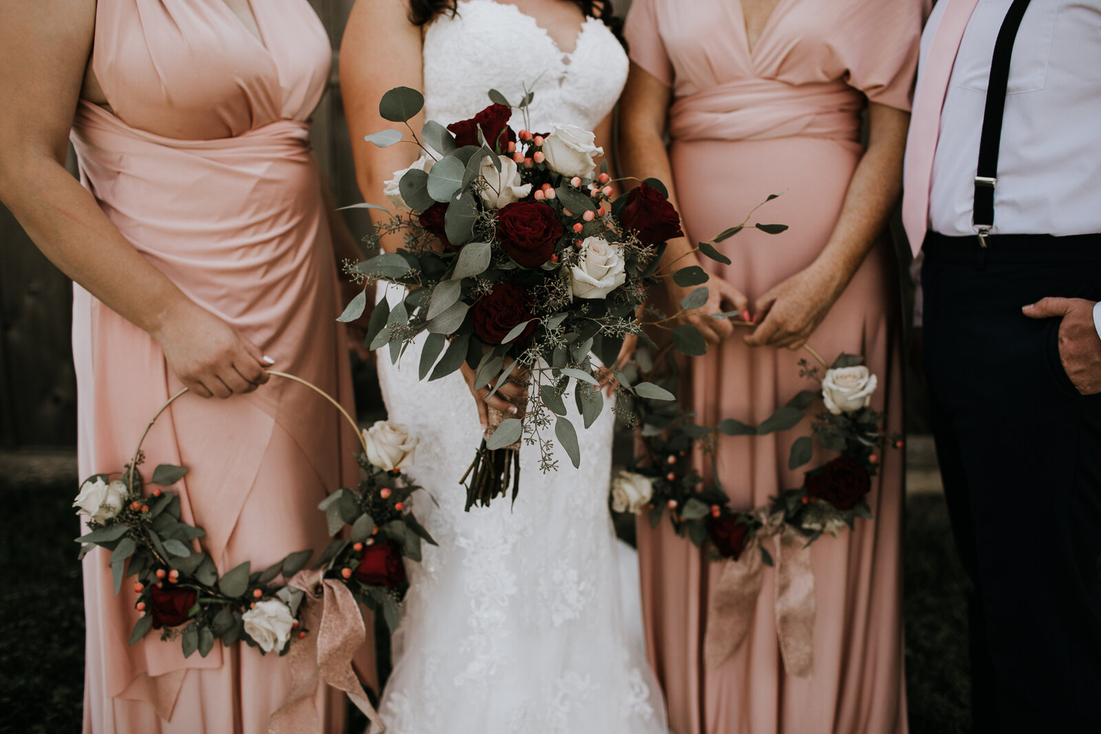 Bridesmaid+Hoop+Florals