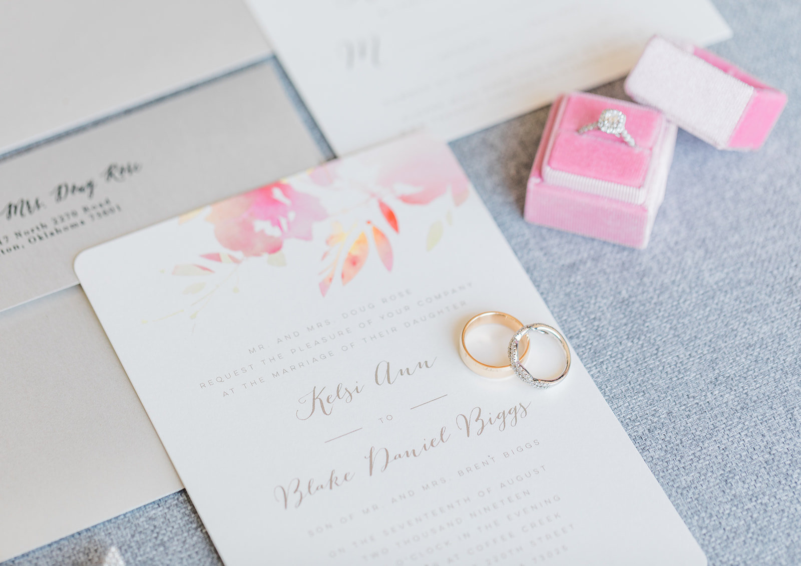 invitation suite edmond wedding